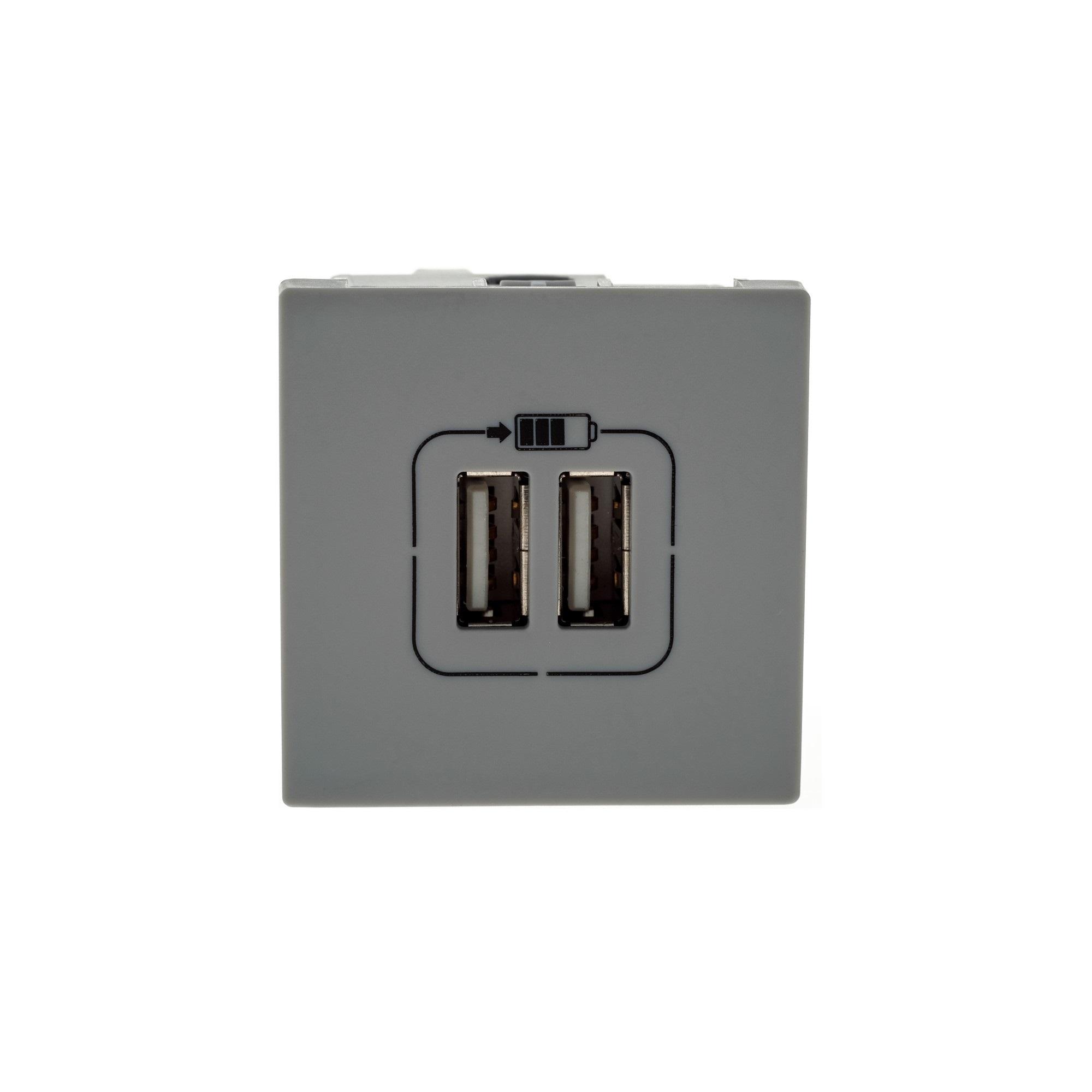 Tomada Carregador USB 2 Modulos Bivolt Pial Plus - 615089CZ - Legrand