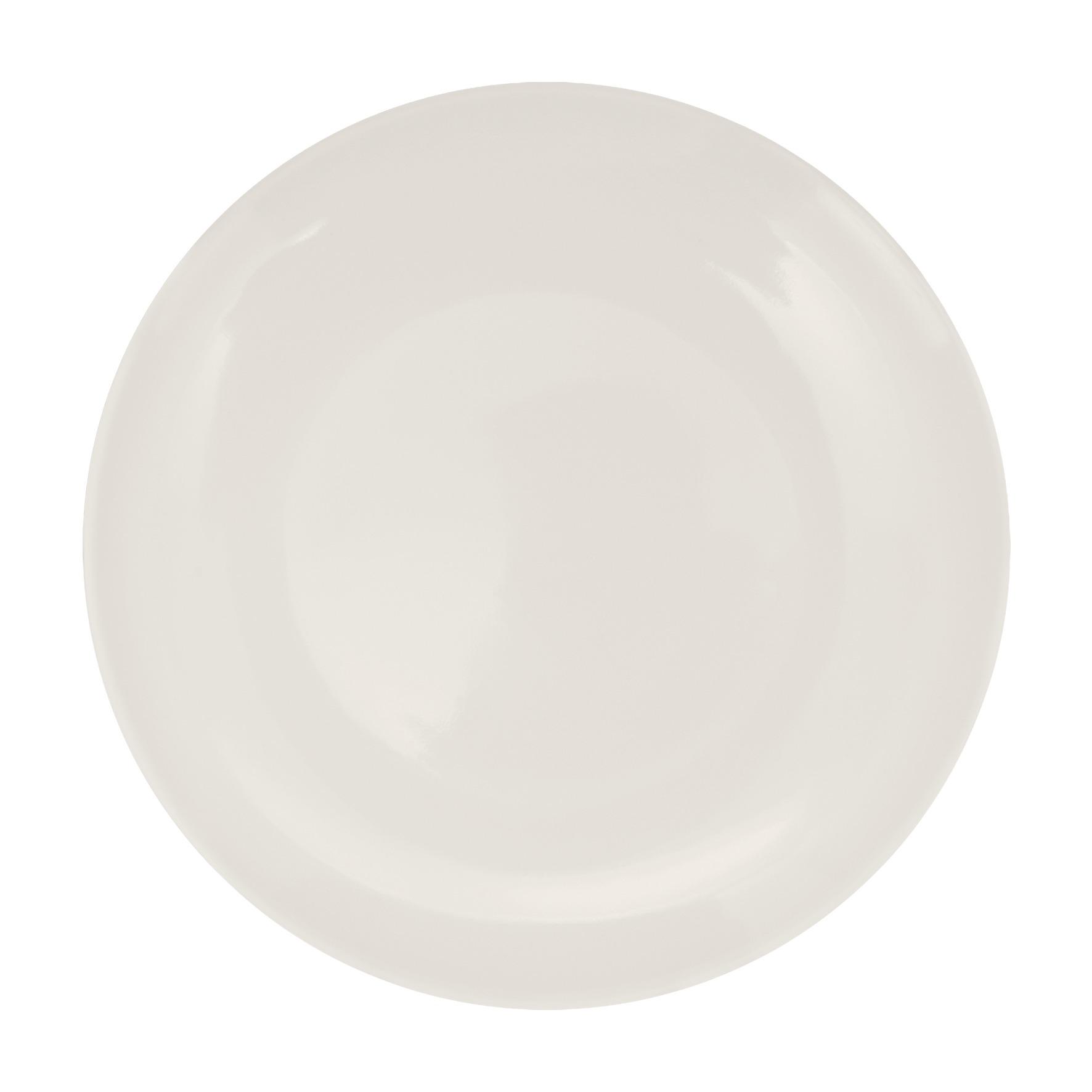 Prato Raso 25cm de Melamina Branco - Yangzi
