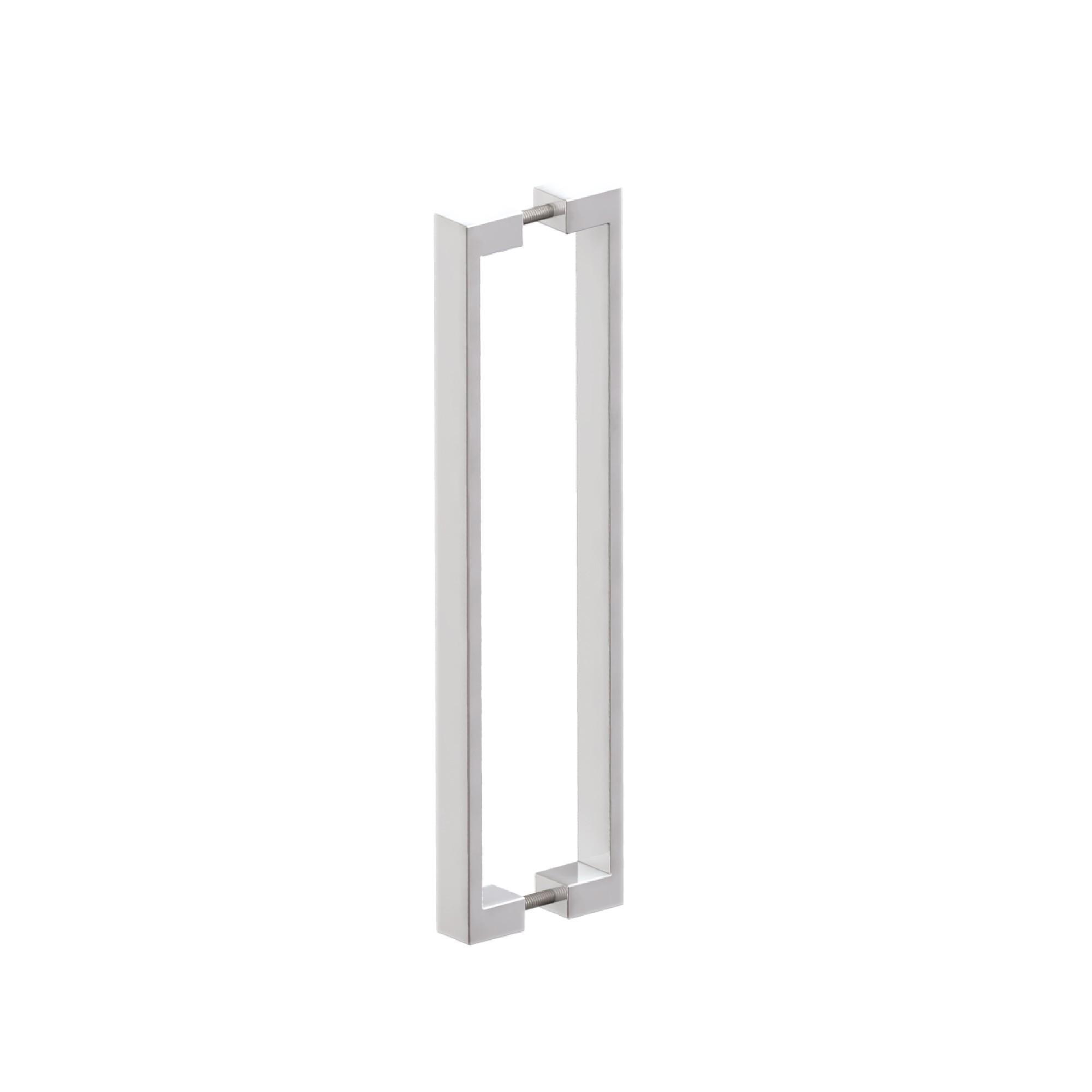 Puxador de Portas sobrepor Aco Inox Escovado 1 par Tena 420mm - Acobrasil