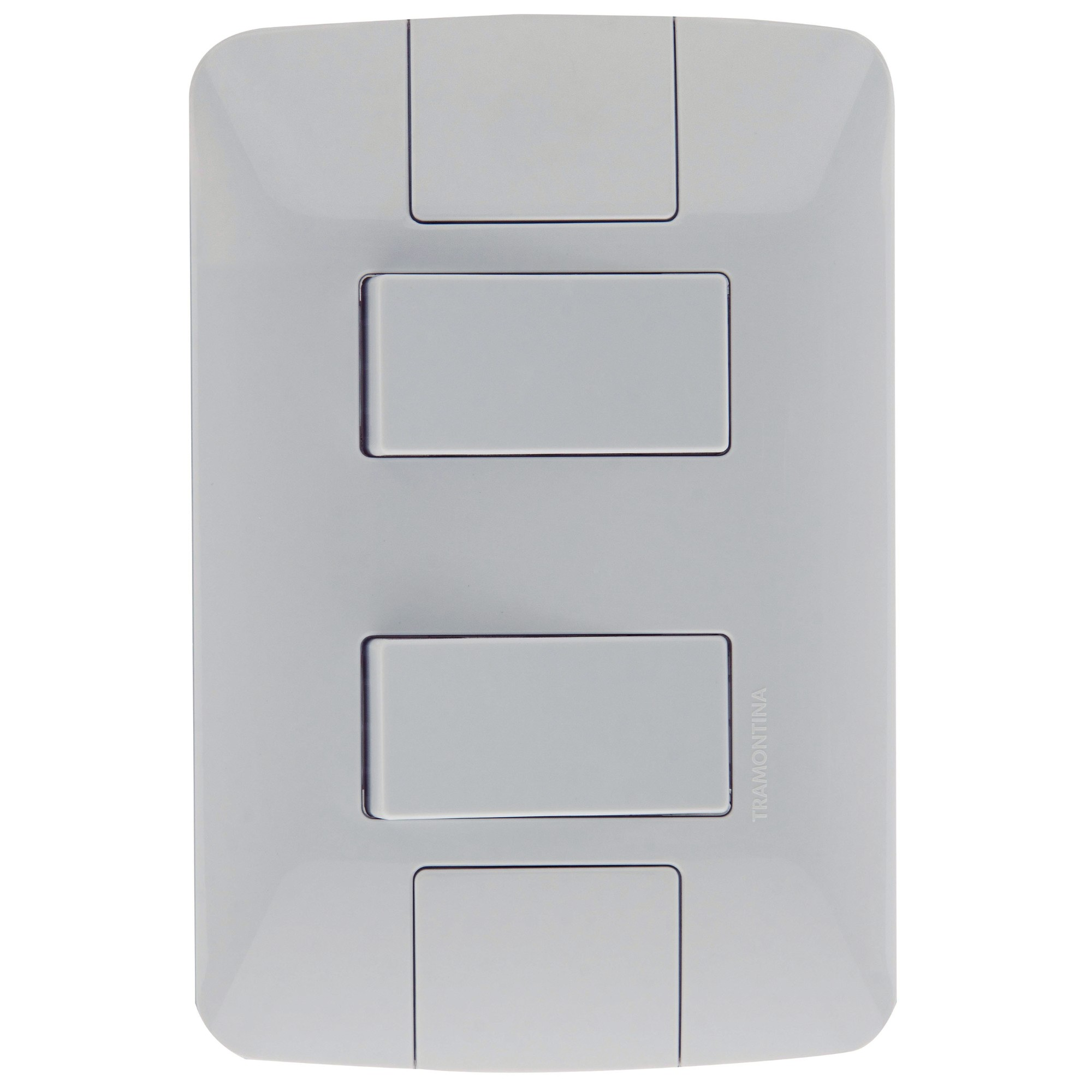 Conjunto Interruptor Simples 2 Modulos 6A - Branco - Aria - Tramontina