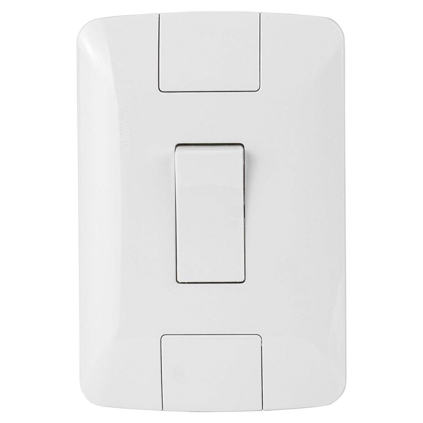 Conjunto Interruptor Simples 1 Modulo 6A 4X2 Branco Aria ABS - Tramontina