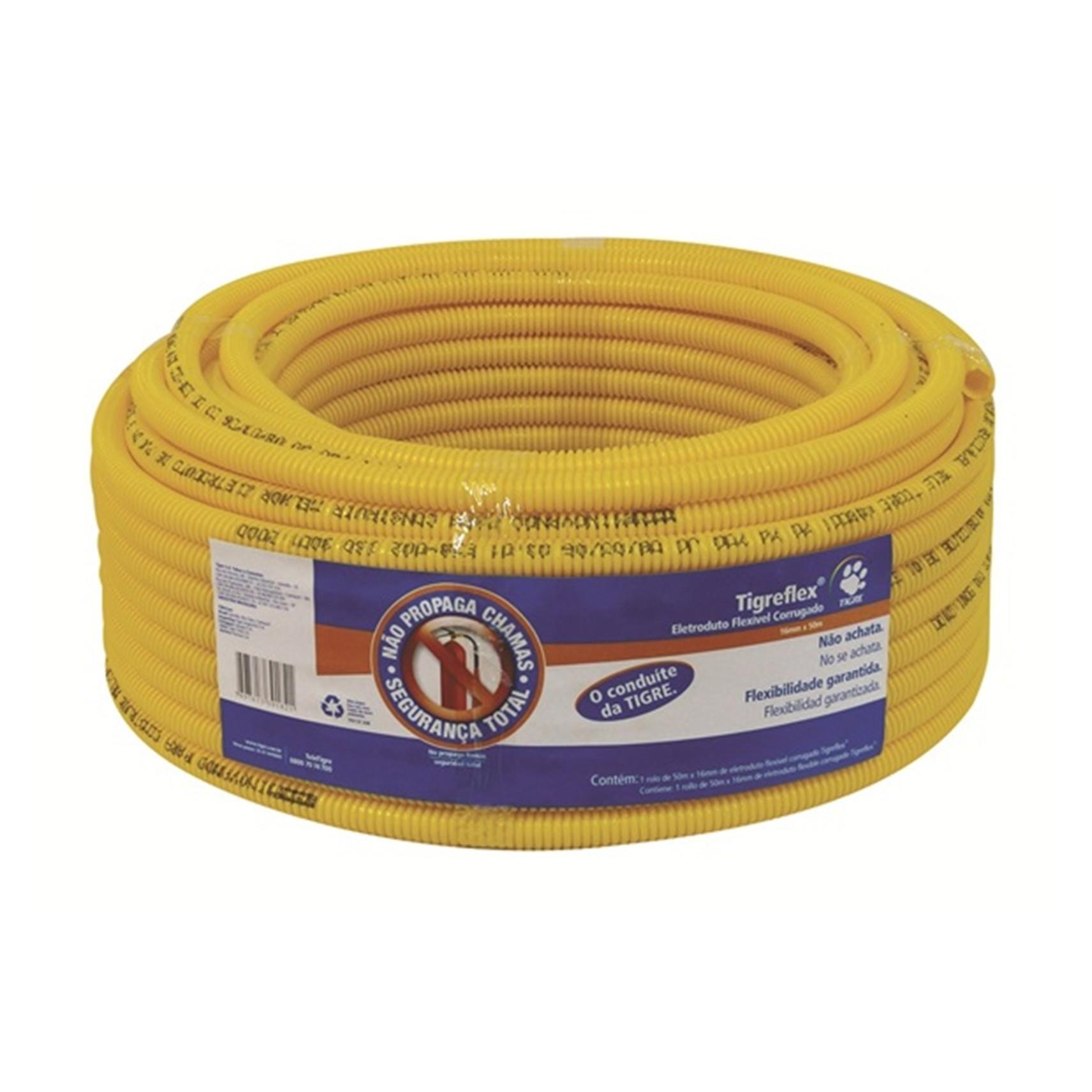 Eletroduto Flexivel Corrugado PVC DN 20 mm 12 x 50m - Tigre