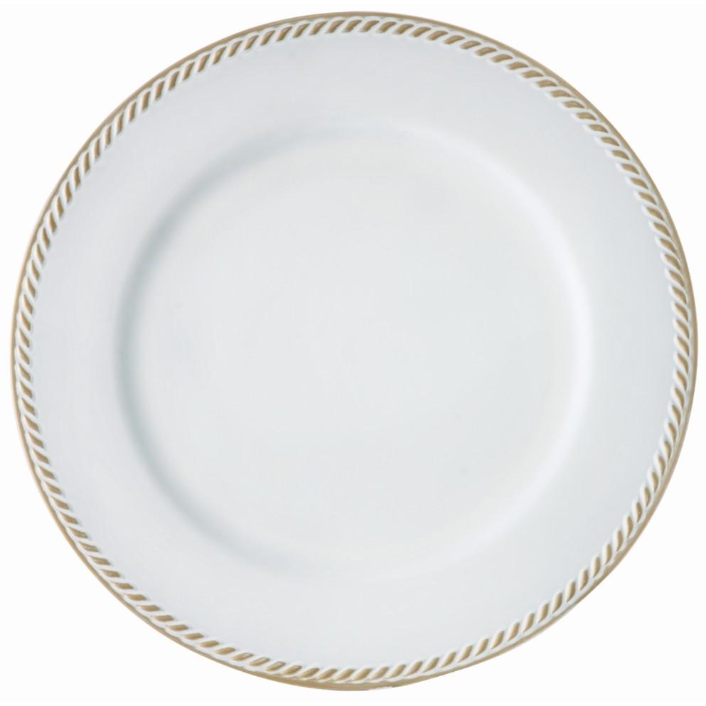 Sousplat Redondo de Plastico 33cm Branco SP1742BD - Mimo Style