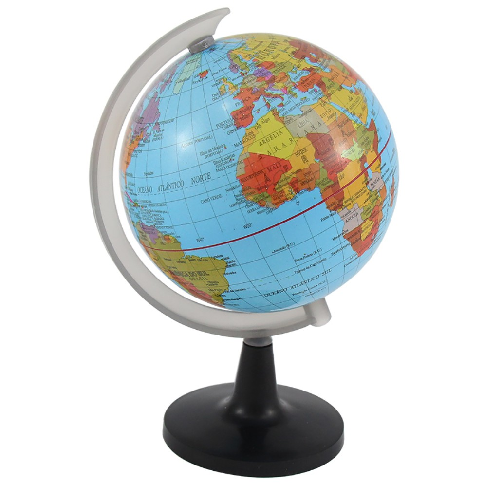 Enfeite Decorativo Globo Terrestre Plastico 20cm - Western