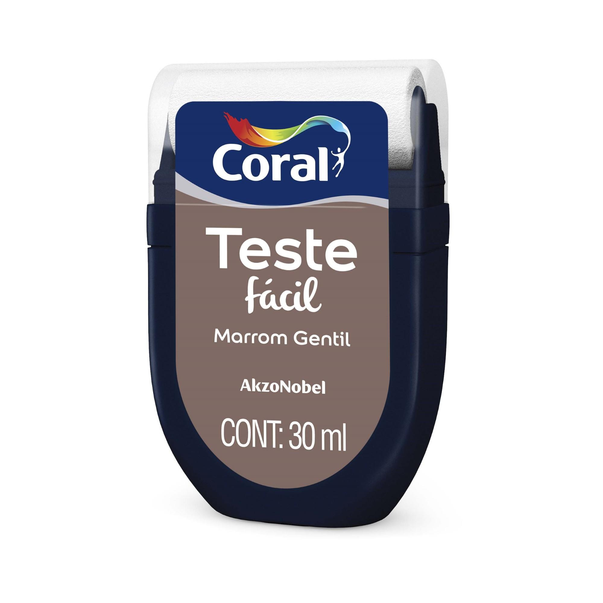 Teste Facil Marrom Gentil 30ml - Coral