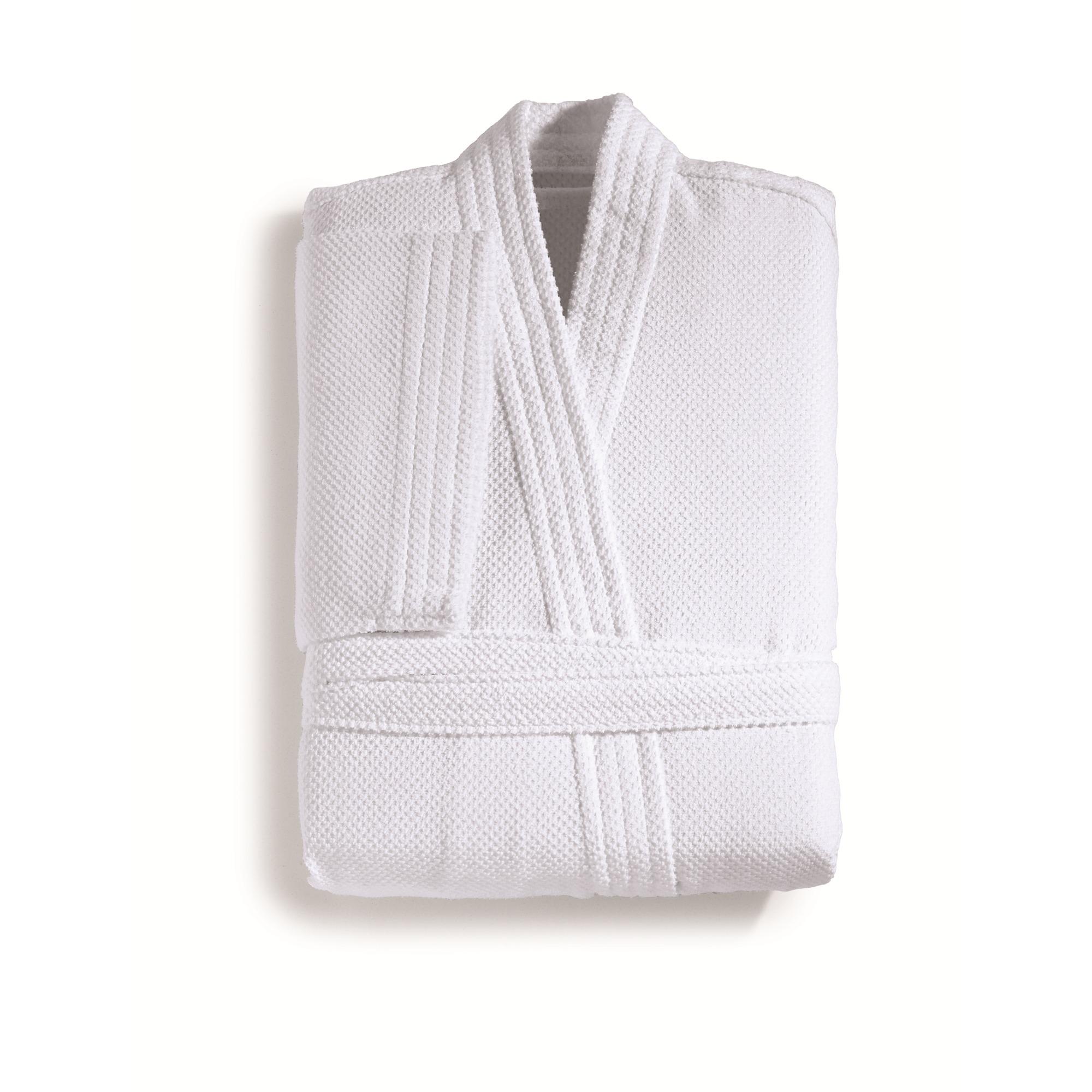 Roupao de Banho Unissex Crepe Liso Branco com Cinto - Artex