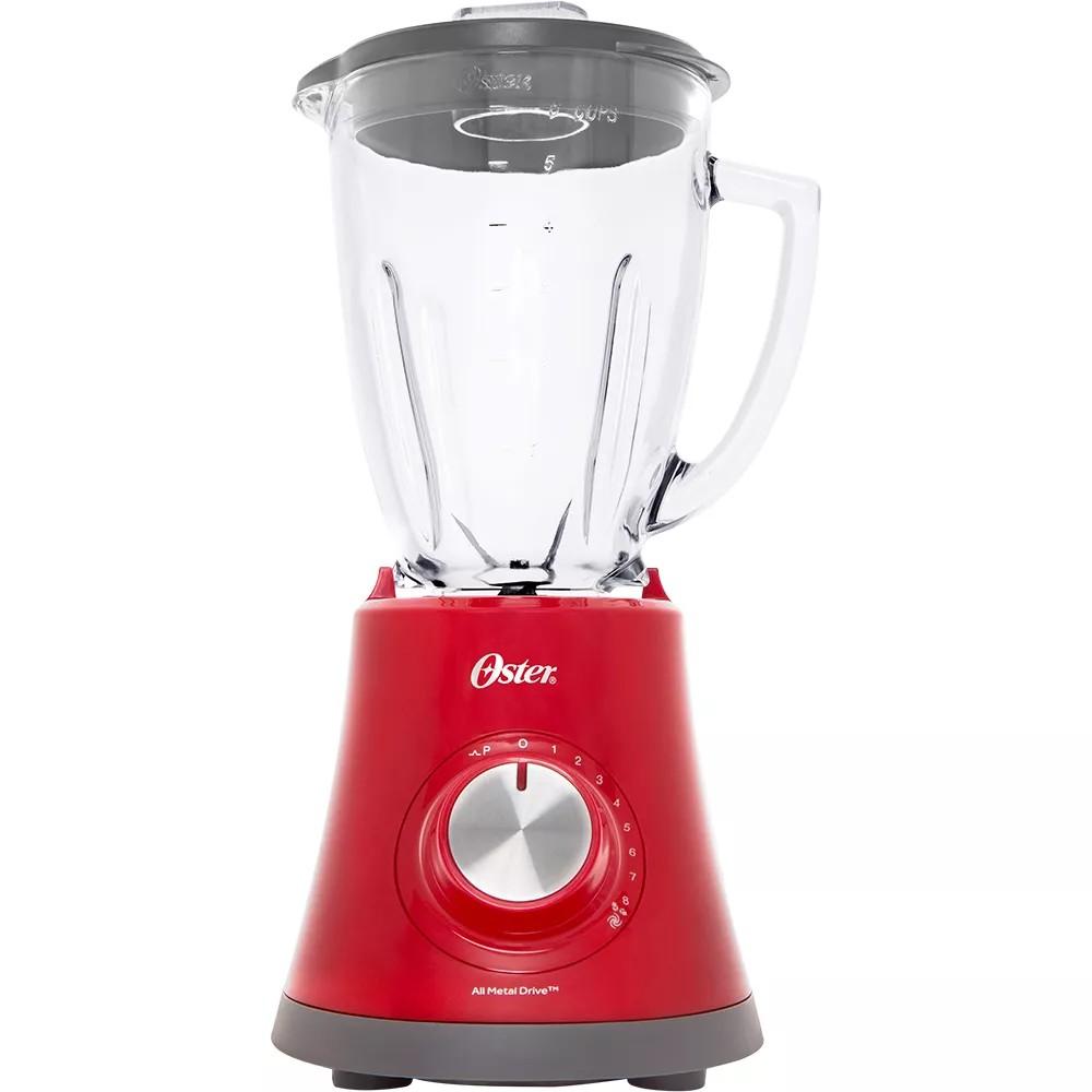 Liquidificador Oster Super Chef 750W Vermelho 8 Velocidades 127V - BLSTMG-RR8-317