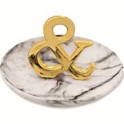 Porta-treco Cerâmica 13cm Dourado - Mart