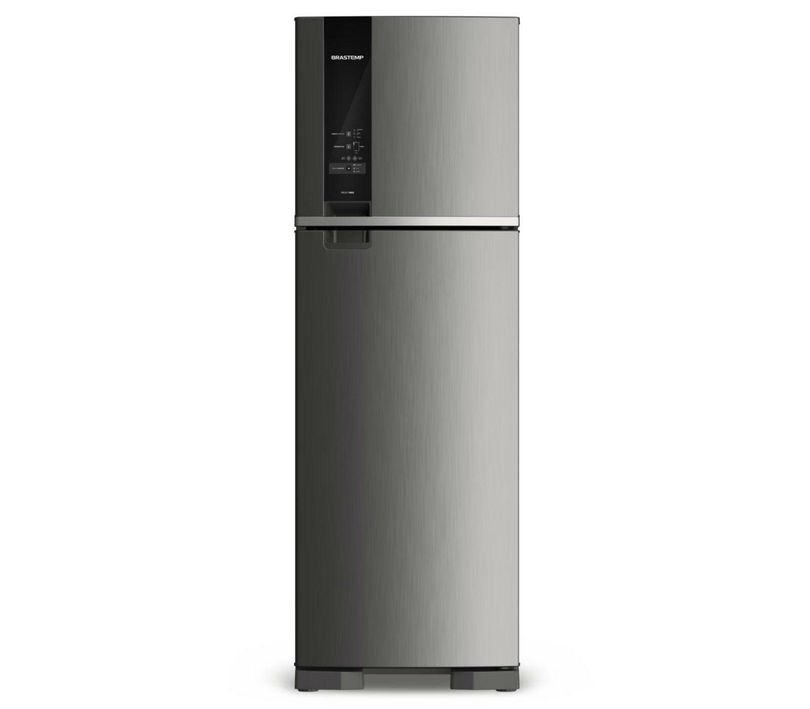 GeladeiraRefrigerador Brastemp Frost Free Duplex 400L Prata 220V - Painel Touch BRM54HKBNA