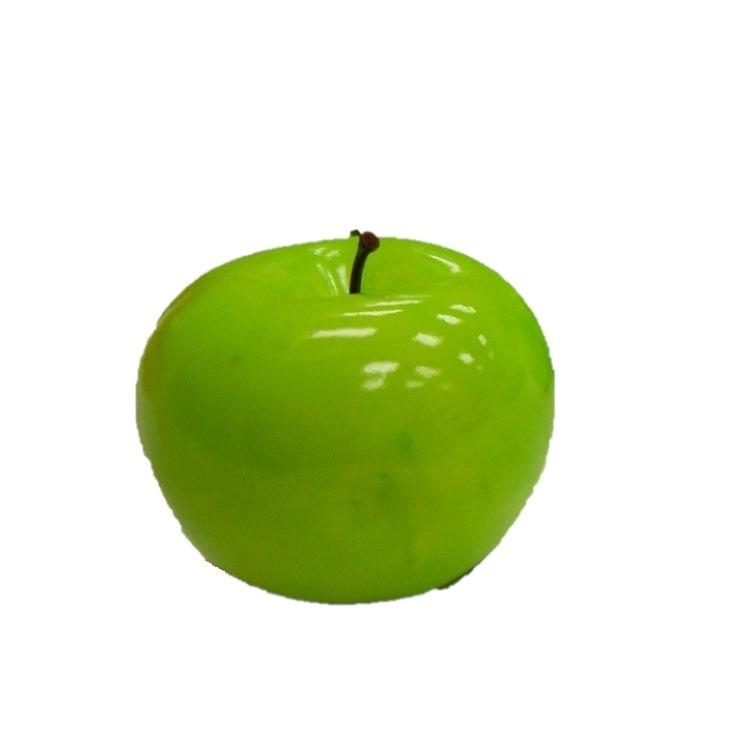 Enfeite de Plastico Maca 7cm Verde - Winmax