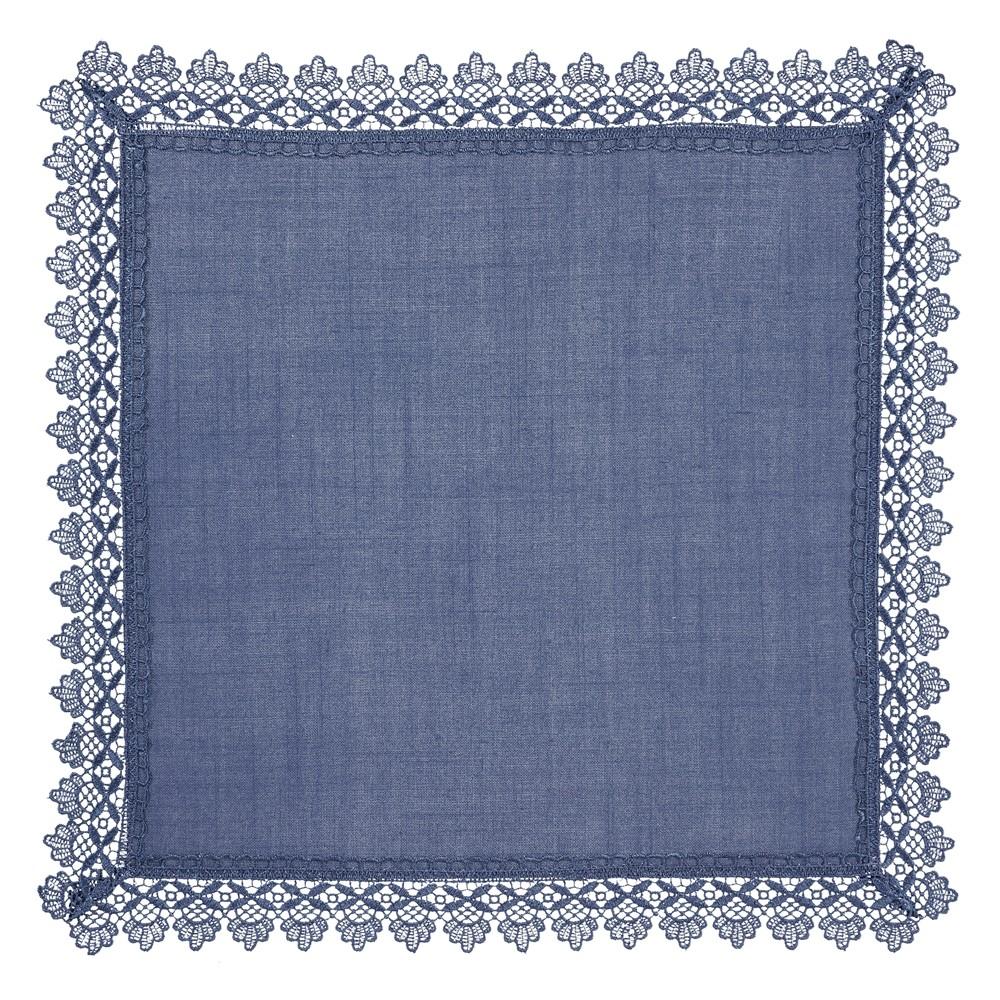 Guardanapo Guipir Liso 45x45 cm Azul - Rafimex
