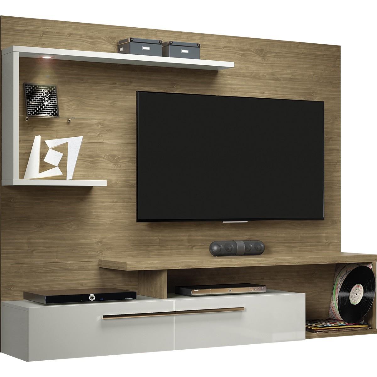 Painel para TV Floripa 182cm x 146cm Avela - Linea