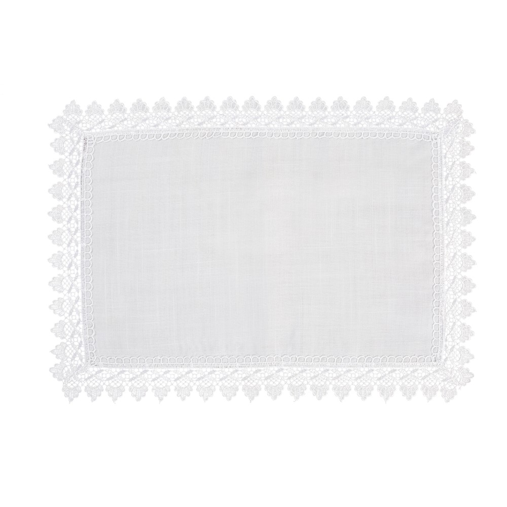 Toalha de Bandeja 30x45cm Branco - Rafimex