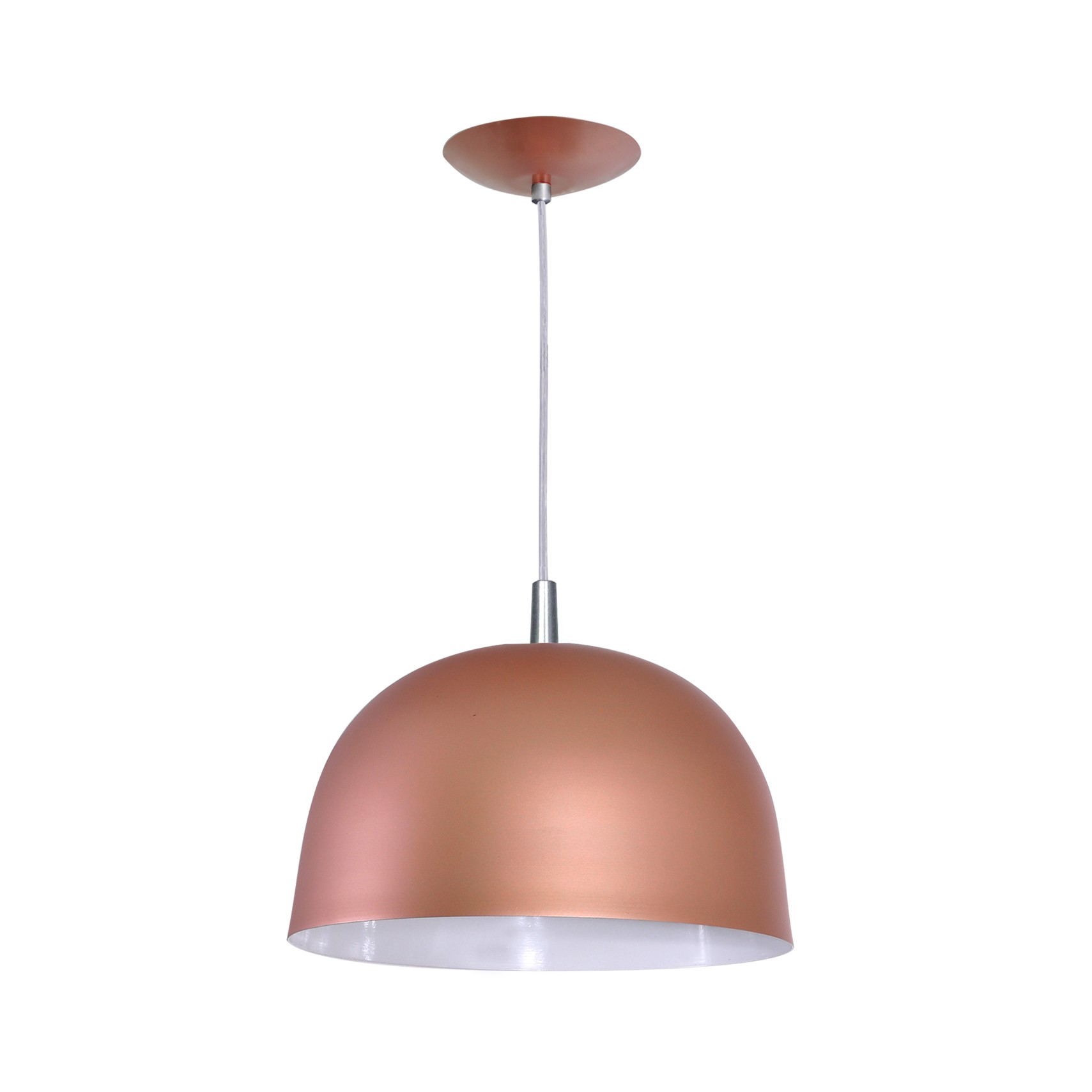 Pendente Color Dome E27 em Aluminio Bronze - Attena