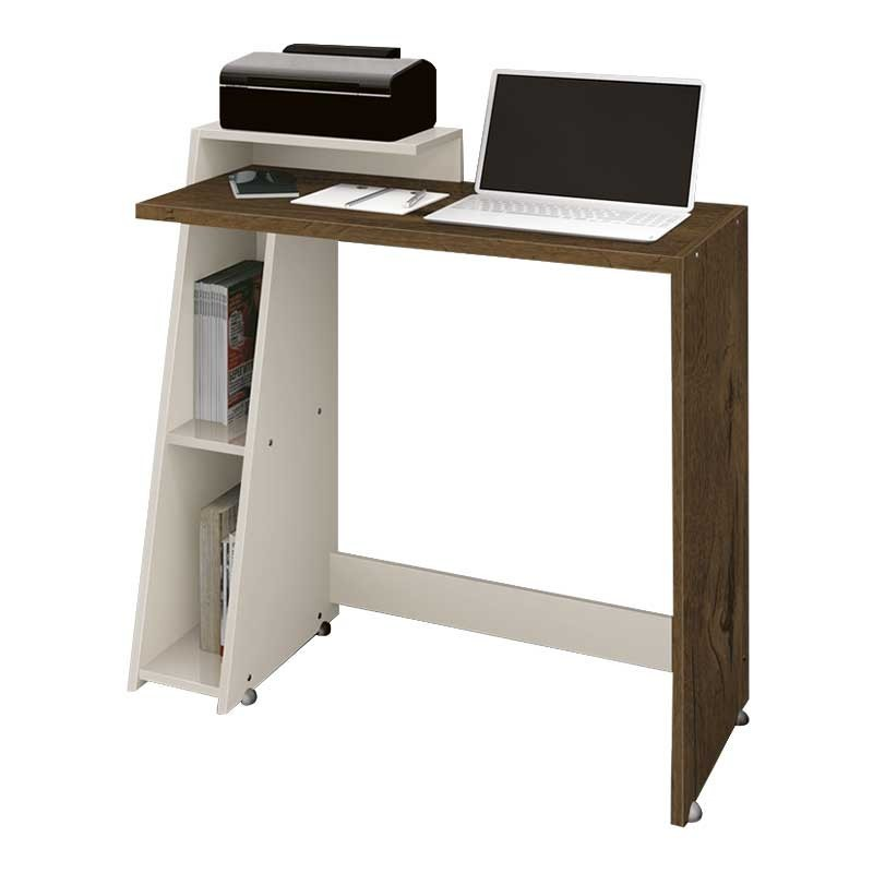 Rack para Computador 90cm Zoom Nogal Off White - EDN