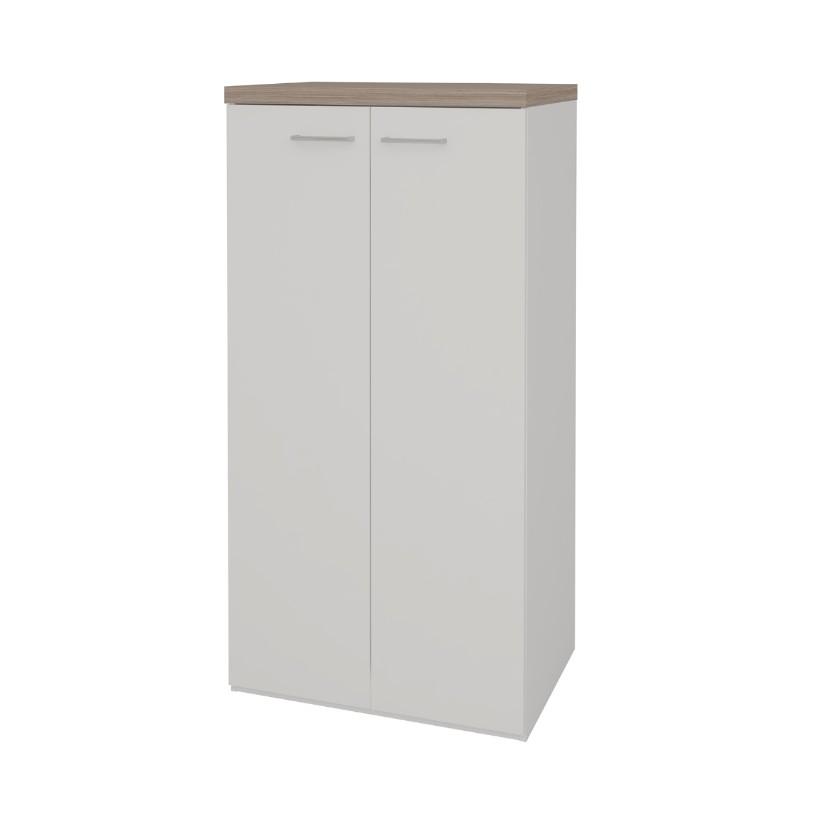 Armario Escritorio Alto 70x140cm 2 Portas Branco - Artany
