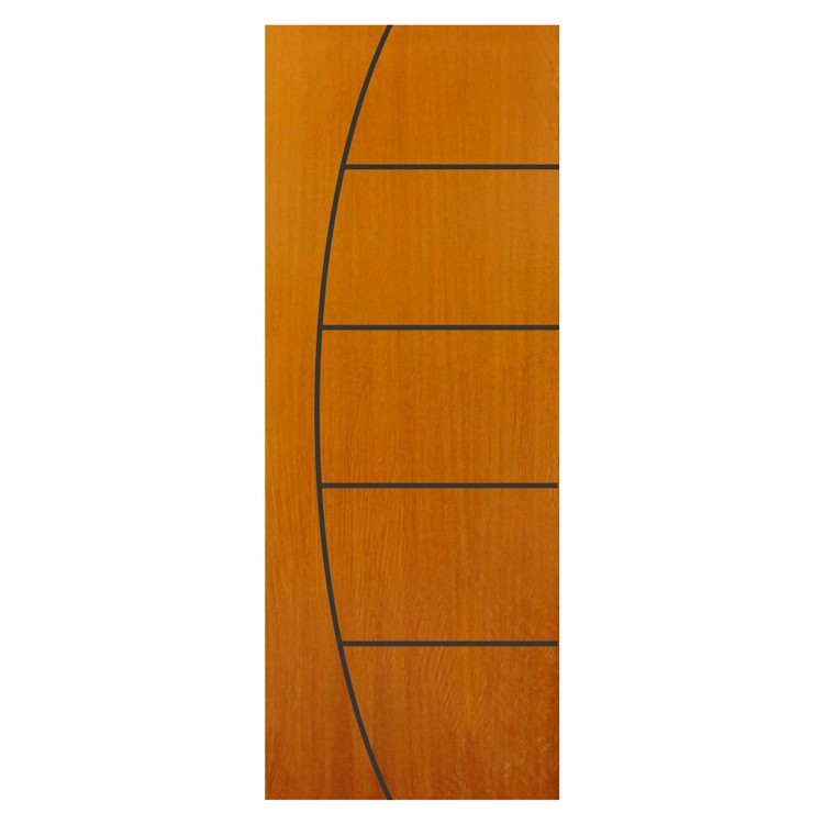 Porta de Madeira de Abrir Frisada Colmeia 80x210cm Angelim Marrom - 1001 - Belissima