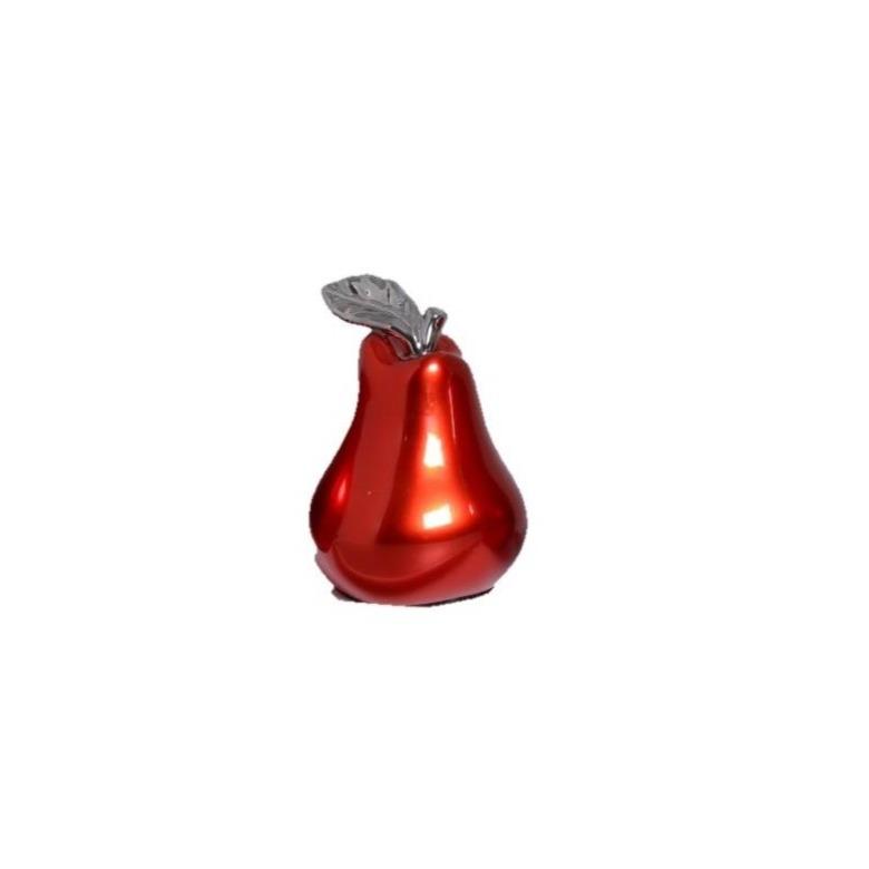 Enfeite Pera 14cm de Ceramica Vermelho 5183 - Ana Maria