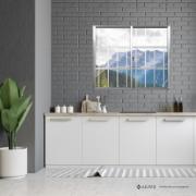 Janela de Correr de Alumínio 2 Folhas com Grade 100x120 cm - Aluvid