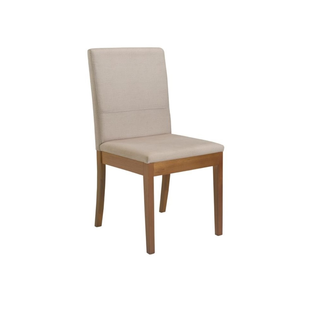 Cadeira Estofada de Mesa Suede Bege - Herval