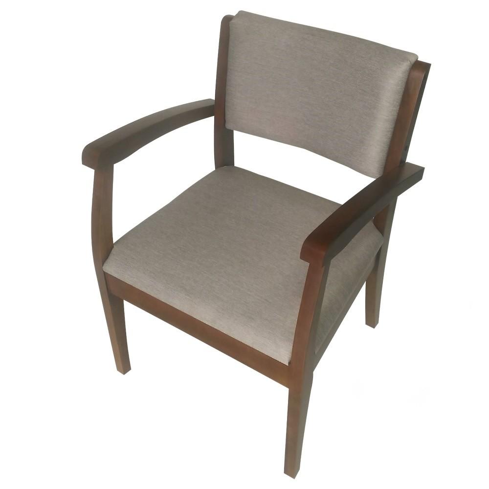 Cadeira Estofada de Aproximacao com Apoio de Braco Bege - L2 Design