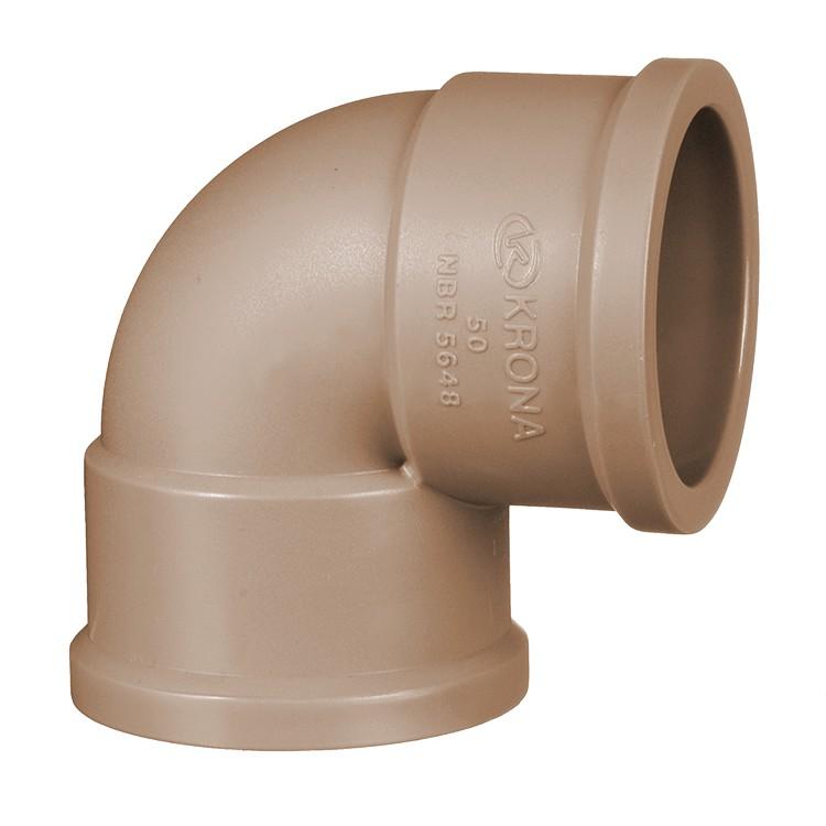 Joelho 90 Soldavel PVC Marrom 60 mm 0429 - Krona