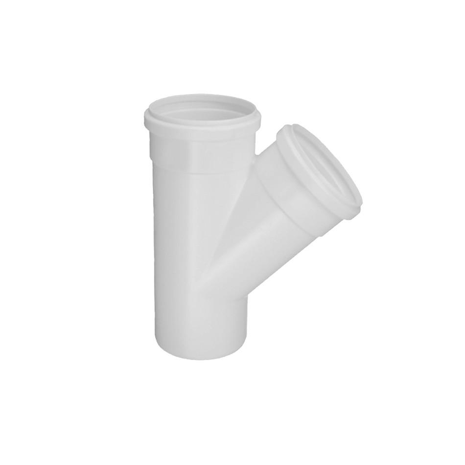 Juncao Simples 45 PVC Branco 100 mm - Krona