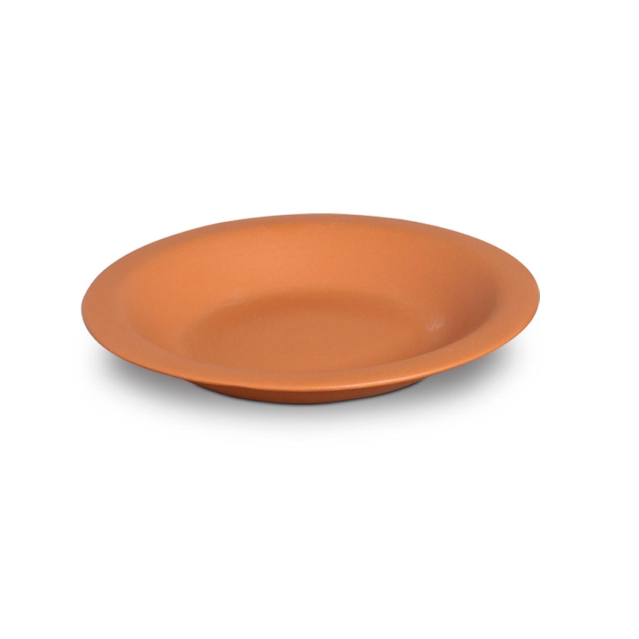 Prato Fundo Redondo em Ceramica Tijolo 23cm - Nova Imagem