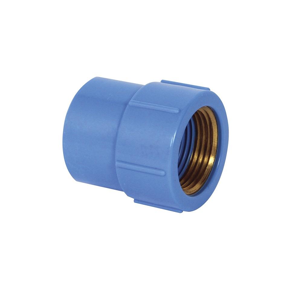 Luva com Bucha de Latao Soldavel PVC Azul 20 mm x 12 - Krona