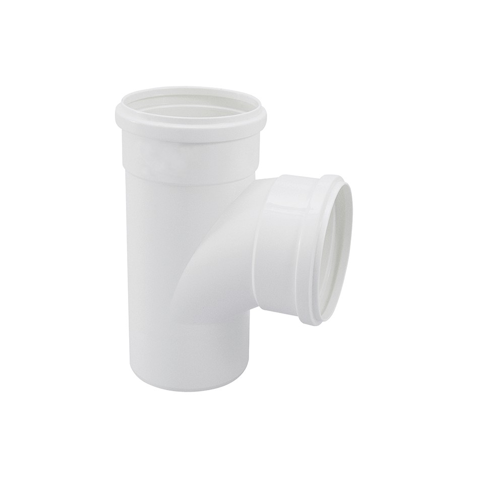 Te Curto PVC Branco 100 mm - Krona