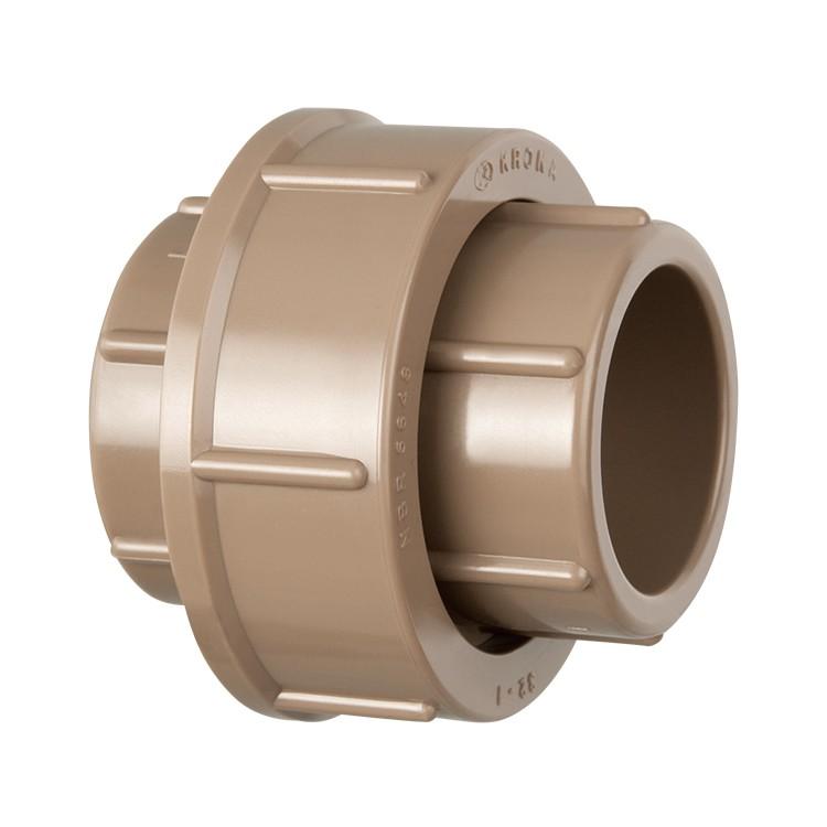 Uniao Soldavel PVC Marrom 50 mm - Krona