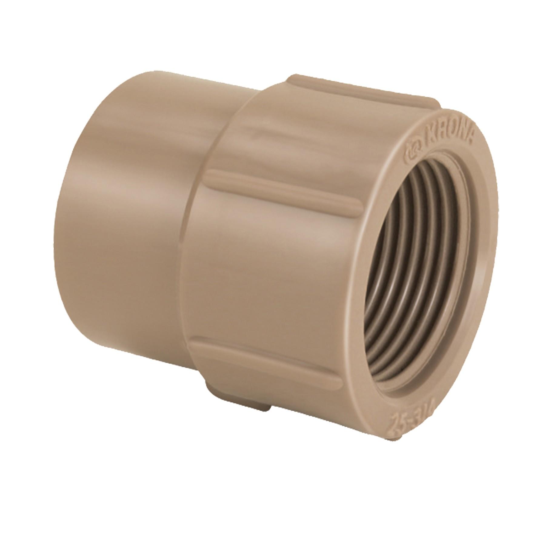 Luva PVC Marrom 25 mm x 34 - Krona