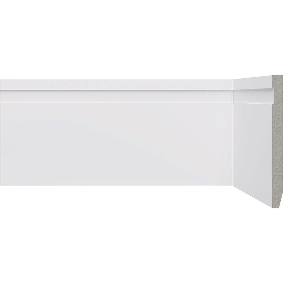 Rodape Frisado 10x220cm em Poliestireno Branco - Bellitas
