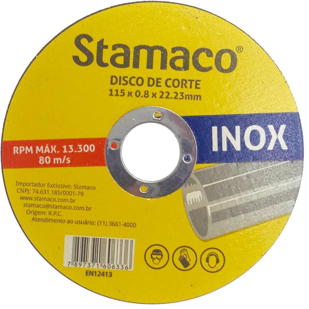 Disco de Corte Zirconio 115 x 08 x 2223mm - Stamaco