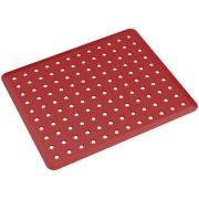 Tapete para Pia Plástico 32,8x27,8cm Vermelho Bold - Coza