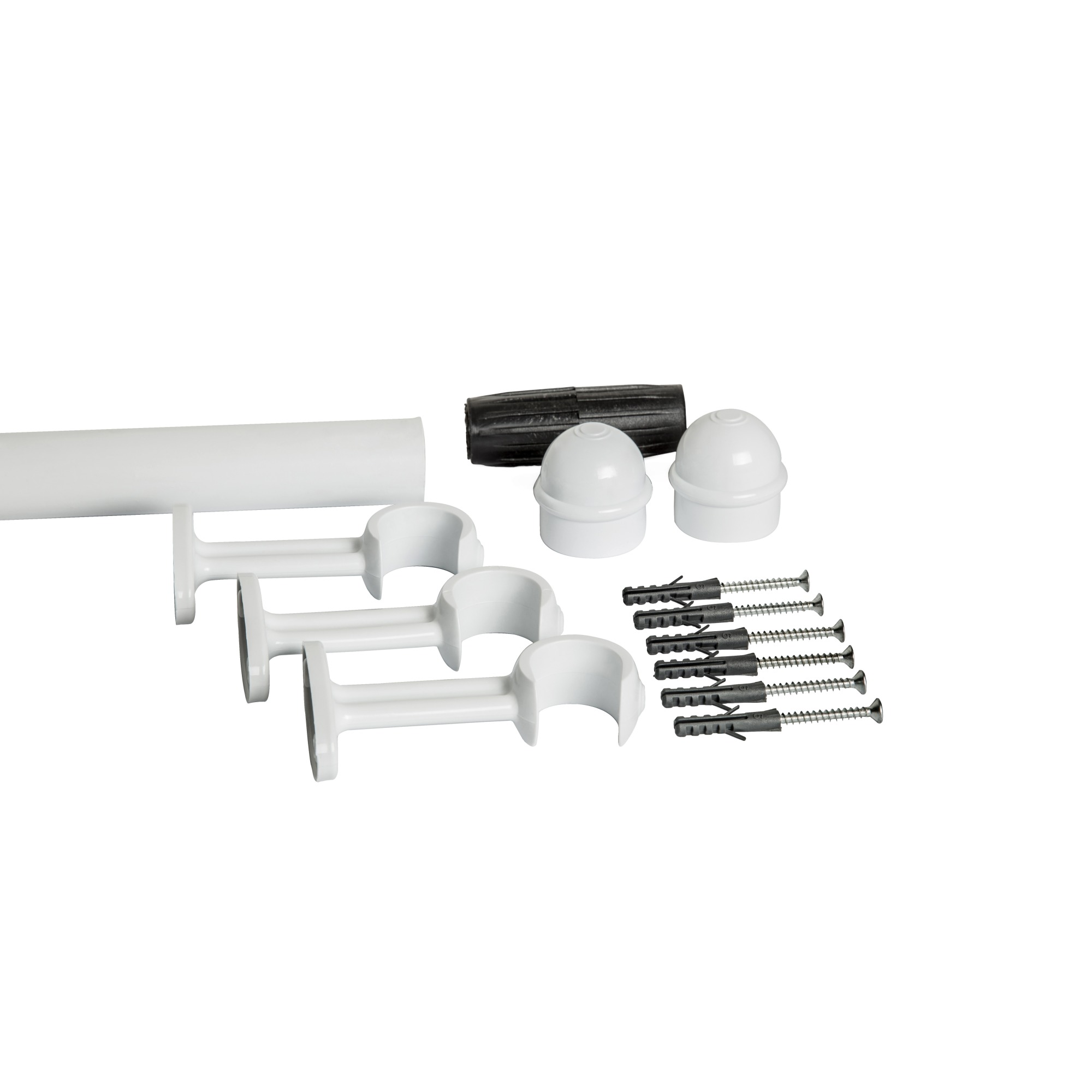 Kit Varao para Cortina 175m x 19mm Clean Branco 831104 - STD Home