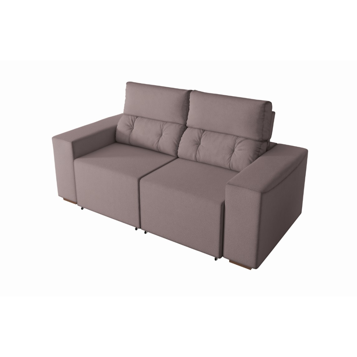 Sofa California 2 Lugares Veludo Marrom Claro - Spazzio