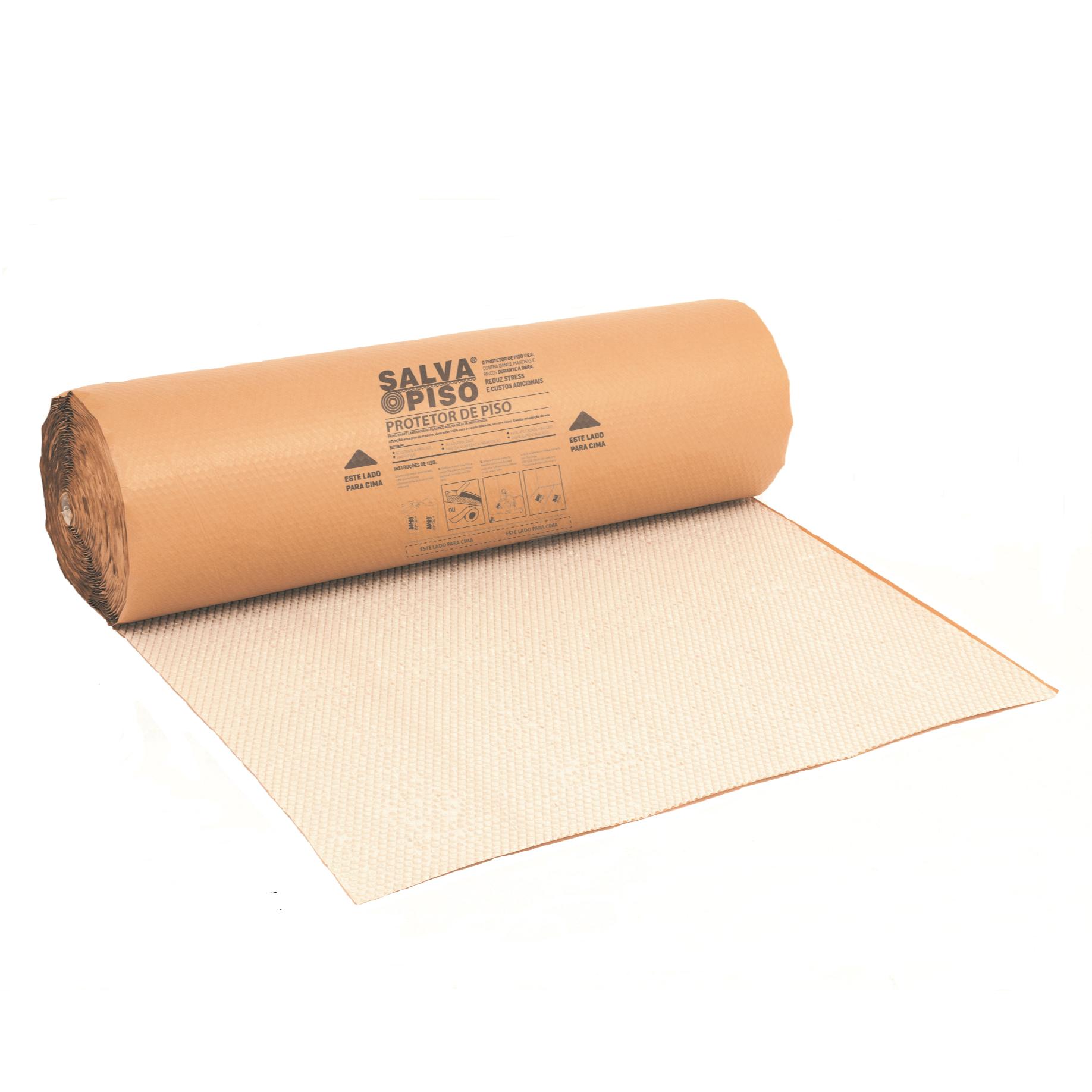 Papel Plastico Bolha Kraft Marrom Claro 1x15m - Salva Piso