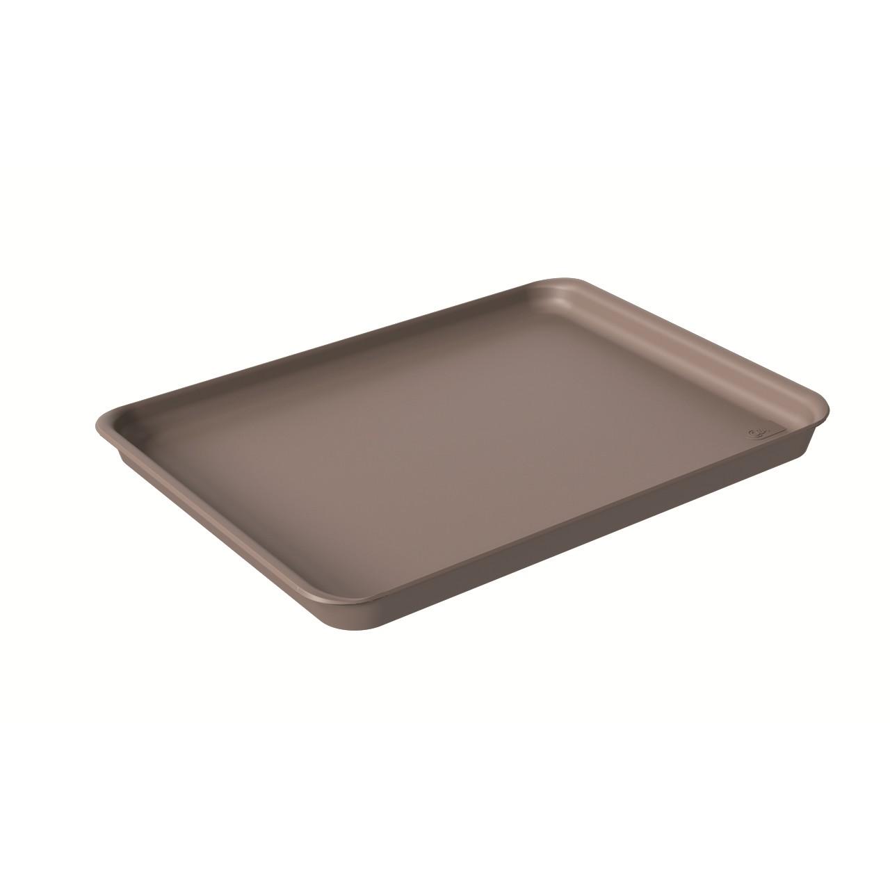 Bandeja Retangular de Plastico 32x23cm Warm Gray - Coza