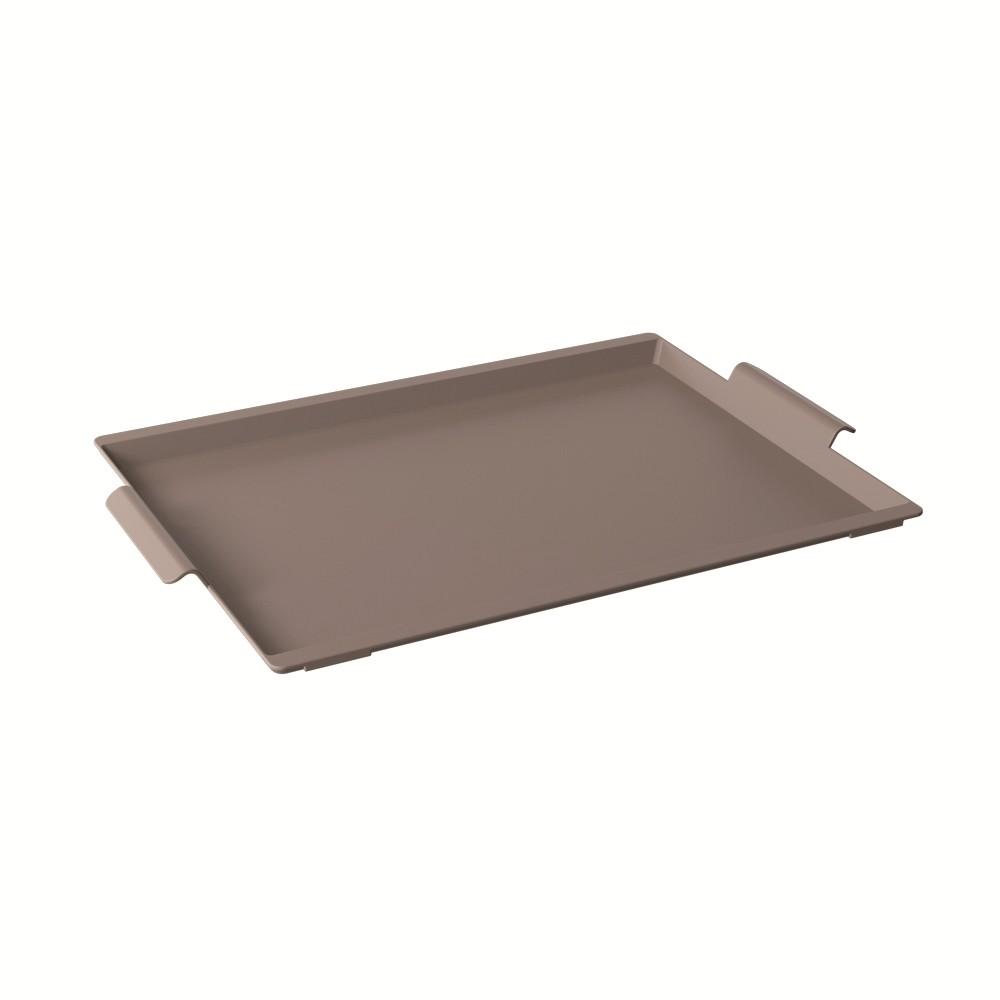 Bandeja Retangular de Plastico 50x33cm Warm Gray - Coza