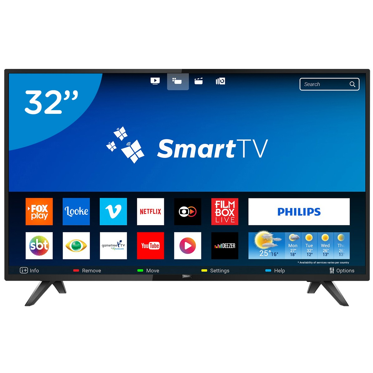 Smart TV LED 32 Philips HD Wi-Fi 2 HDMI 2 USB - 32PHG581378