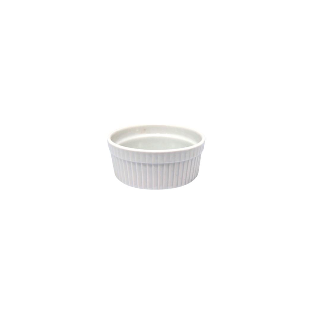 Ramequin de Porcelana Redondo 11 cm Branco - Rosh Import