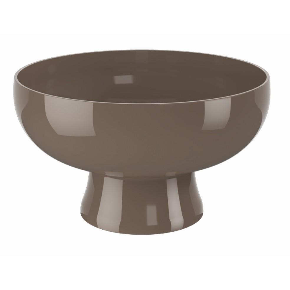 Saladeira de Plastico 23cm com Pe Warm Gray 10115 - Coza