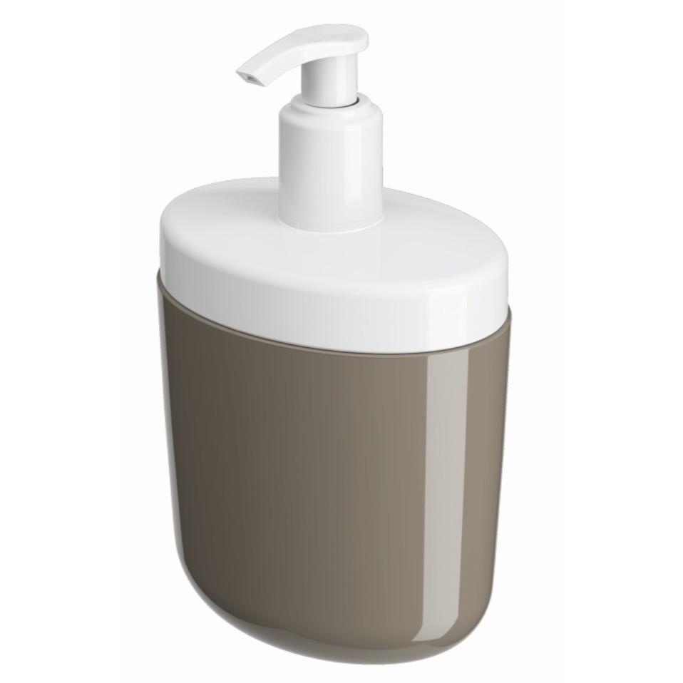 Porta Sabonete Liquido Plastico 450ml Cinza 10446 - Coza
