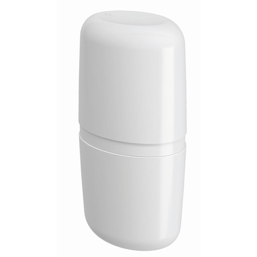 Porta Escova Plastico com Tampa Branco 10442 - Coza