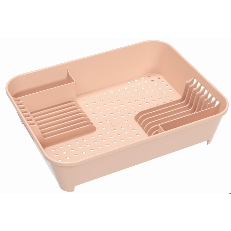 Escorredor de Prato de Plastico Rosa Blush 10848 - Coza