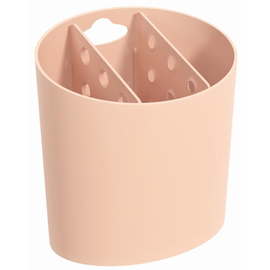 Escorredor de Talheres de Plastico Rosa 10840 - Coza