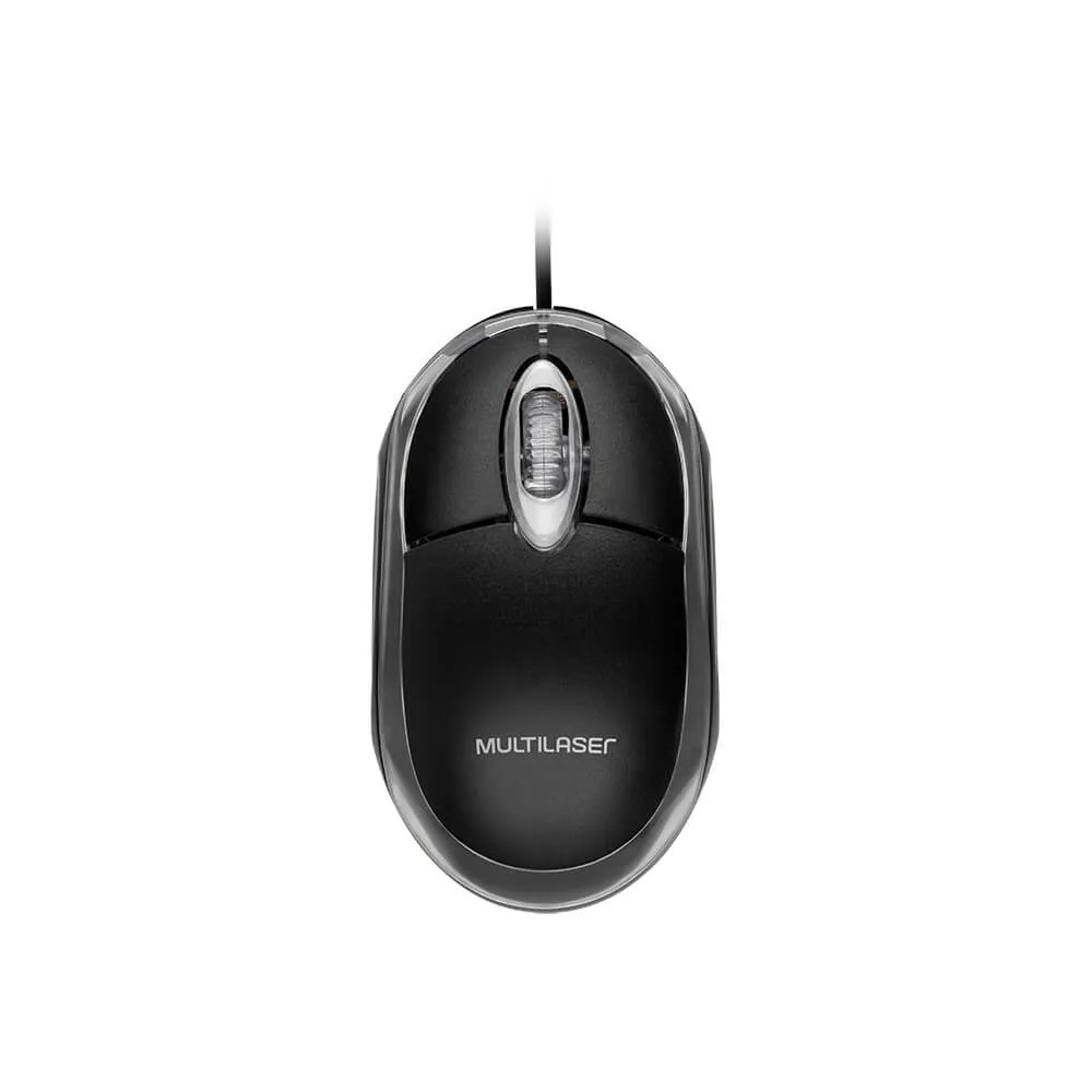 Mouse USB Optico com Scroll Preto - MO179 - Multilaser