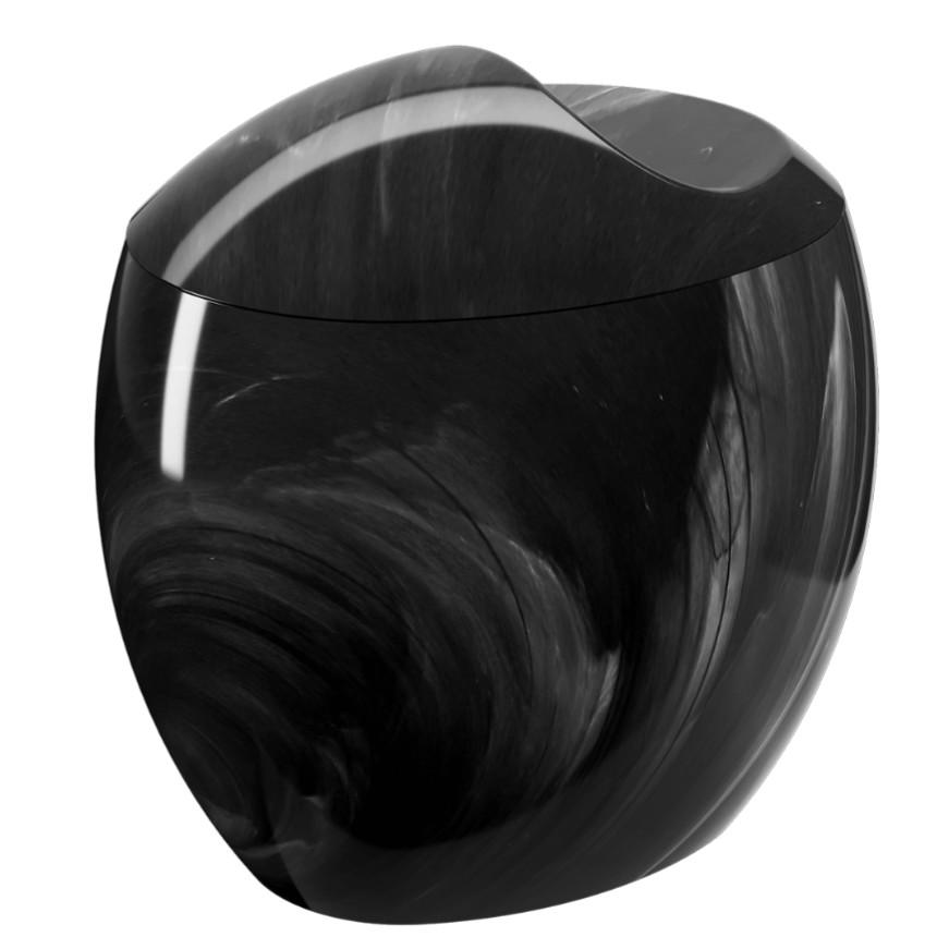 Porta Cotonete Acrilico Marmore 20861 - Coza