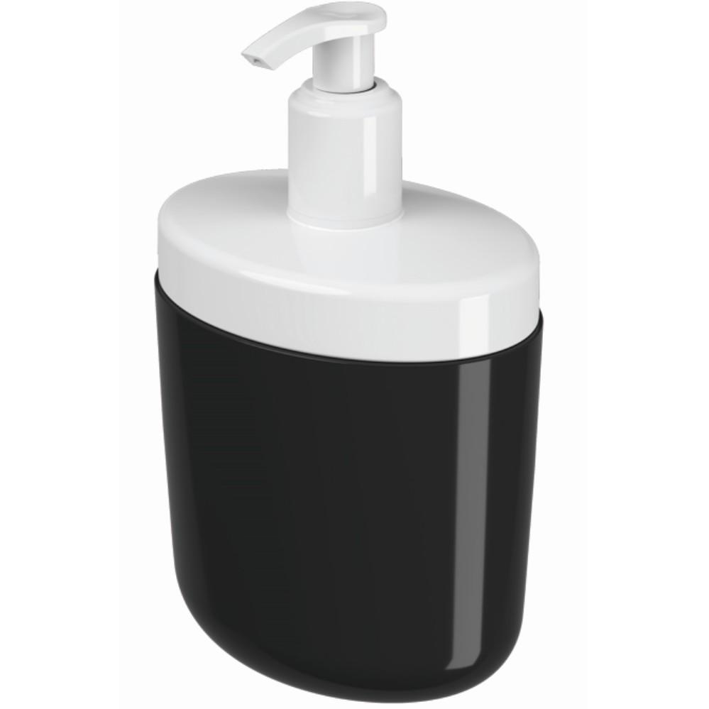 Porta Sabonete Liquido Plastico 450ml Preto 10446 - Coza